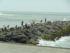 04 Fishing from the dock, Miraflores, Lima Peru