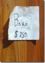 12 Sign at Drake castle - Banos $250