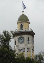 14 Moorish style clock tower (10 minutes slow)