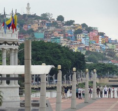 15 Bolivar rotunda on the Malencon (riverside park), with colorful hillside of houses