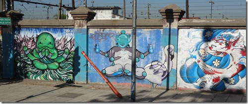 15 Wall graffiti in Santiago