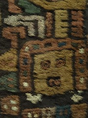 19 Moche textile, closeup (Lorca museum)