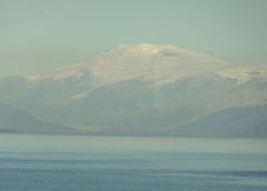 21 Mountain near Isla Chiloe, from dining room in evening