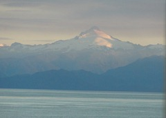 22 Mountain near Isla Chiloe, from dining room in evening