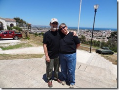 27 Rick & Mary at fort, overlooking La Serena Chile