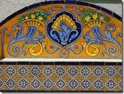 29 Italian tile bench at fort