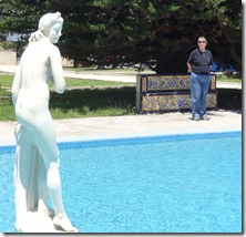 30 Two beauties - Mary & Italian marble statute at pool at fort