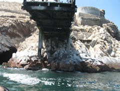 33a under dock at Ballestas