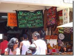 39 Needlework hangings at market near La Serena