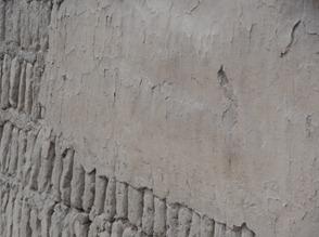 41 Adobe finish over bricks at Huaca Pucllana