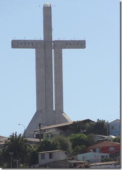 48 Cross atop hill in Cocquimbo