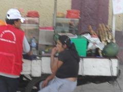 50 sugar cane stalks (right) on street vendor's cart