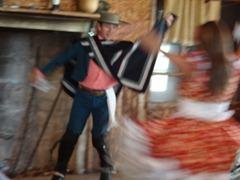 54 Folk dancers  doing Cueca at Pangal