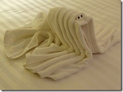 57 Towel Animal - Shrimp (we think)