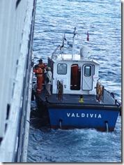60 Pilot's boat alongside Prinsendam