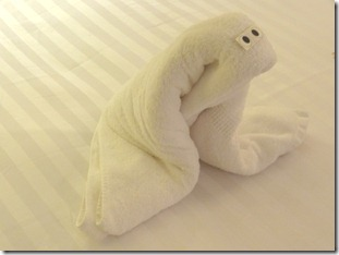66 Towel animal - seal