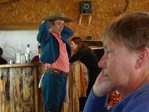 70 Folk dancer eyeing Mary