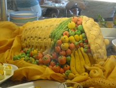 72 Cornucopia bread sculpture