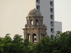 74 Old church tower, from circuit of the waters in Lima