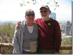 80 Rick & Mary at hillside overlook of Santiago