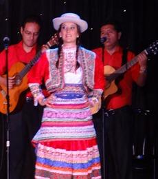 85 Peruvian folk dance show on Prinsendam
