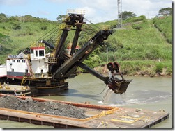 Dredging canal for larger ships from new canal (2)