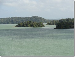 Islands in manmade Gatun Lake used to be mountain tops