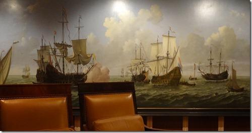 Naval Painting in Explorers Lounge