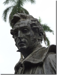Simon Bolivar statue, Bocas Del Toro
