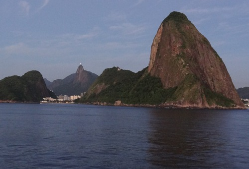 03 Sailing into Rio at sunrise - Sugarloaf & corcovado
