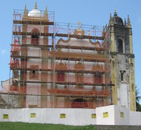 05 Olinda church with scaffolding