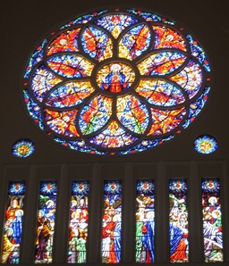 05 Stained glass window in Metropolitan Cathedral