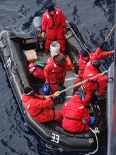 07 Palmer Station crew climbing aboard Prinsendam
