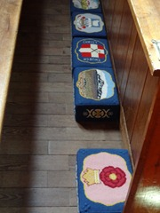 10 Needlepoint kneeling stools in Cathedral