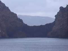 156  Depression in wall of Deception Island, showing other side