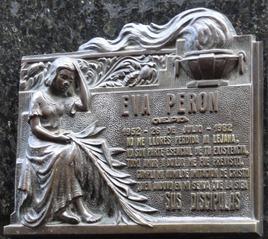 15 plaque on Evita Tomb