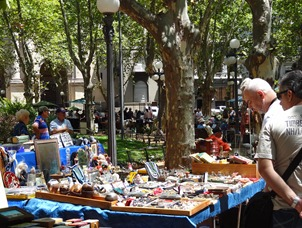 15 Saturday flea market at Plaza Constitucion
