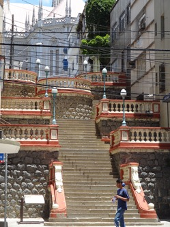 15 Steps from port level to Cathedral in upper city