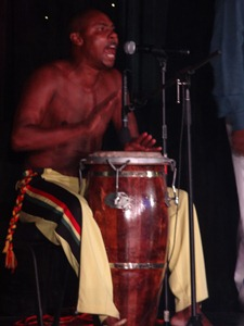 193 Conga drummer at Brazilian Folklorica show on Prinsendam