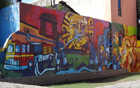 19 Fireman wall painting in La Boca