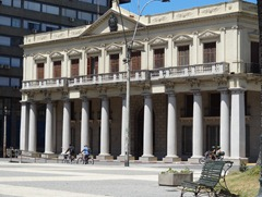 19 Palacio Estevez, govt headquarters  until 1985, in Plaza Independencia