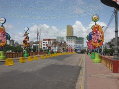 23 Carnaval decorations on bridge