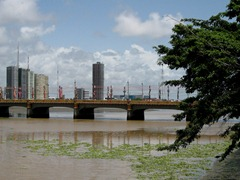 24 Recife bridge decorated for Carnaval