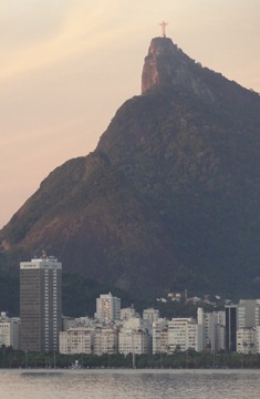 26 Sailing into Rio at sunrise - Corcovado & Cristo Redentor
