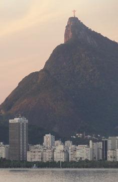 26 Sailing into Rio at sunrise - Corcovado & Cristo Redentor
