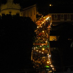 28 Olinda street at night from above