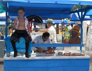 34 Olinda boy in vendor's cart