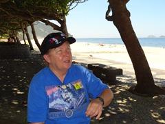 38 Mary at San Conrado beach