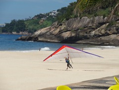 39 Hang glider landing at San Conrado beach