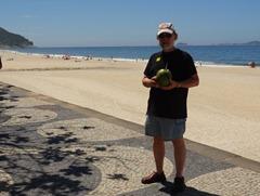 42 Rick with Coconut at San Conrado beach